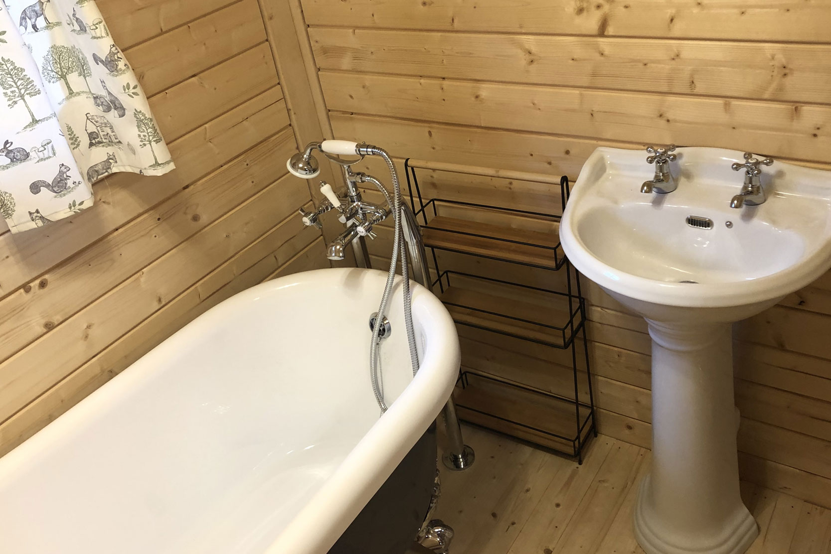 Glamping cottage bathroom Norfolk